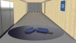 Rendering of a typical Hyperscale Data Center in one of CPP's atmospheric boundary layer wind tunnels. Physical dispersion modeling is used to define the level of re-entrainment of exhaust at nearby air intakes.
